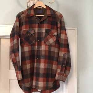 Vintage USA made wool Pendleton shirt